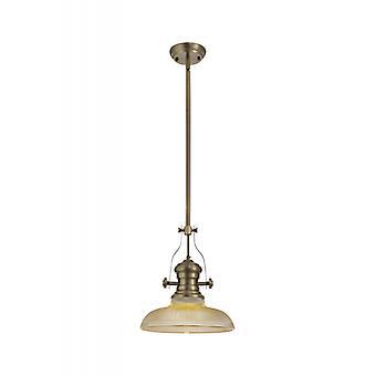 Lámpara Colgante Telescópica Arianna 1 Bombilla Latón Antiguo 80 Cm