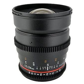 Rokinon 24mm t1.5 lentille cine grand angle pour olympus et panasonic micro 4/3 (mft) monter appareils photo numériques (cv24m-mft)