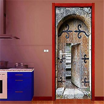 Retro Wooden Door Poster ( Set 3)