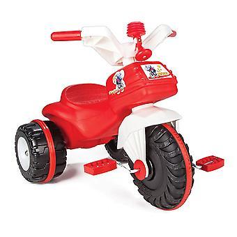 Pilsan trehjuling Bidik Bike 07119 röd plast med pedaler och horn