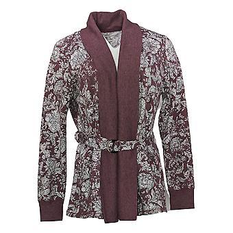 عناق دودس المرأة أعلى ملابس الراحة التفاف حزام الكارديجان الأحمر A381713