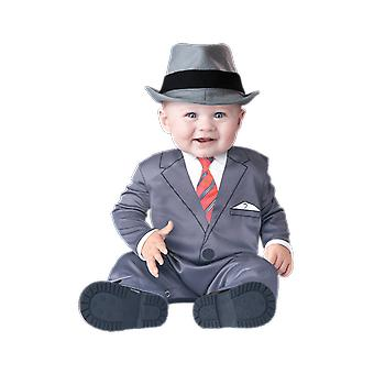 Baby Age 6 - 24 Months Business Gangter Suit Uniform Toddler Fancy Dress Costume