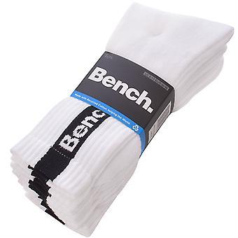 ספסל יוניסקס מבוגרים סופרן 5 חבילת ספורט לוגו צוות גרביים - לבן - 6-11 בריטניה