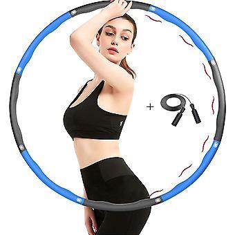 Wokex Fitness Hula Hoop Reifen fr Erwachsene mit Springseil 8 Abschnitte Schaumstoff Einstallbarer