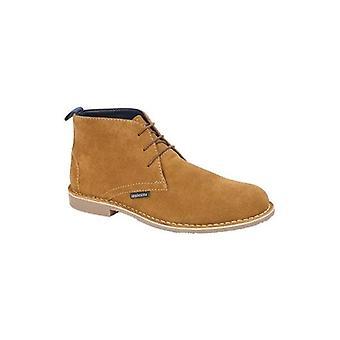 Lambretta Theo Mens Suede Desert Boots Tan