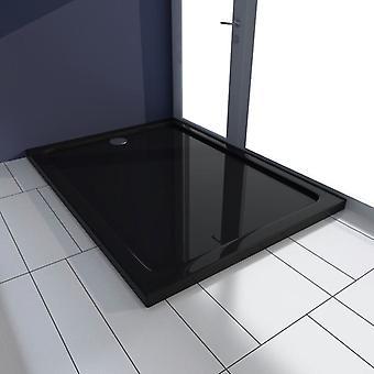 vidaXL Shower Cup ABS Rectangular Black 80×110 cm