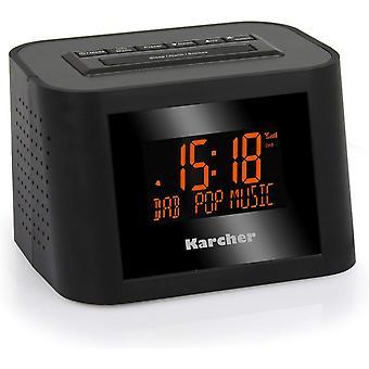 Wokex DAB 2420 Stereo-Radiowecker (DAB+, FM-PLL mit RDS und Senderspeicher, dimmbares Display,