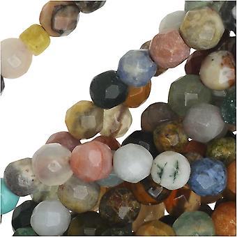Dakota Stones Gemstone Beads, Mixed Stones, Faceted Round 4mm, 15.5 Inch Strand