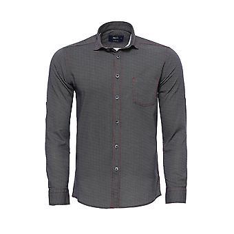 Dot patterned grey men's shirt | wessi