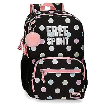 Double compartment backpack adaptable to Movom Free Dots trolley