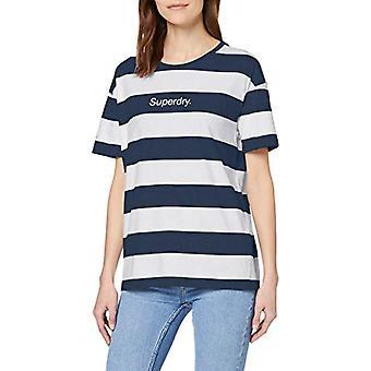 スーパードライ ロゴ フォイル ポートランド T シャツ, ブルー (ネイビー ストライプ JKc), XXS (サイズ メーカー:6) 女性