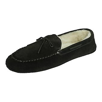 Cool Boys Tom Suede Moccasin Slippers - Brown