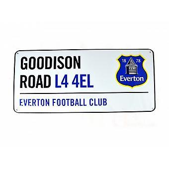 Everton FC virallinen jalkapallo metalli kadun merkki