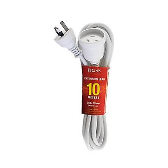 Doss 10M Power Extension Lead White