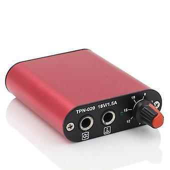 mini tatovering strømforsyning profesjonell svart / rød / blå strømforsyning