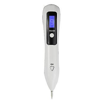 Lcd Plasma Pen Led Lighting Laser Tattoo Mole Removal Machine Freckle Dark Spot Remover(White)