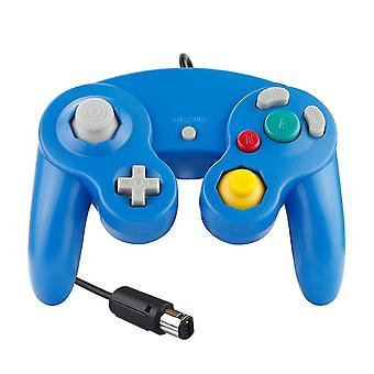 Wired Ngc Game Controller Gamepad Game Cube Controller Handheld Joystick For Nintendo(Blue)