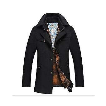 Män & s Slim Fit Single Breasted Trench Topcoat