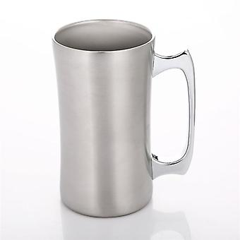 20oz Premium Stainless Steel Vacuum Double Wall Insulated Beer Mug (silver)