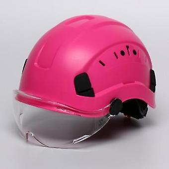 קסדת בטיחות עם משקפי מגן כובע Abs כובע עבודה מגן