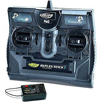 500501006 FS Reflex Stick II 2,4 GHz – 6-Kanal-Fernsteueranlage, Fernbedienung mit Empfänger
