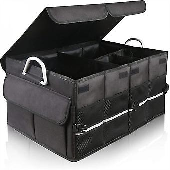 Mimigo 1200d Waterproof Car Trunk Organizer,trunk Storage Box With Cover Large Capacity With Multi-compartment And Adjustable Securing Straps