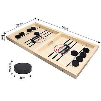 Snelle sling puck spel tempo houten tafelhockey winnaar spelletjes interactief schaakspeelgoed voor volwassen kinderen desktop battle bordspel