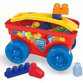 Mega Blox Pull n Play Wagon with Bonus Blocks