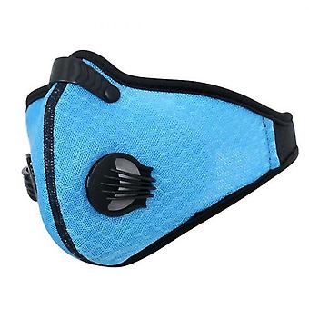 Cycling Mask Breathable Mesh Dust Smog Windproof Nylon Washable Protective Protector Mtb Cycling Blue One Size