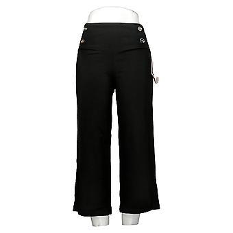 Mujeres con Control de Barriga de Mujer Control Sailor Crop Pants Negro A375909