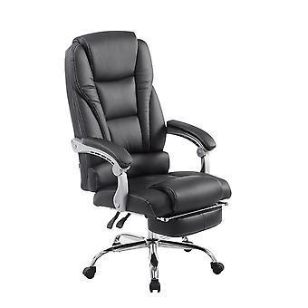 Toimistotuoli - Työpöytätuoli - Kotitoimisto - Moderni - Musta - Metalli - 68 cm x 64 cm x 118 cm