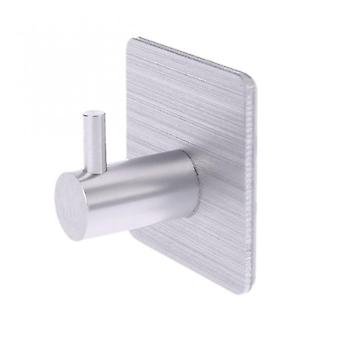 Stainless Steel Self Adhesive Wall Coat Rack Key Holder Rack Towel Hooks Clothes Rack Hanging Hooks Bathroom Accessories Silver