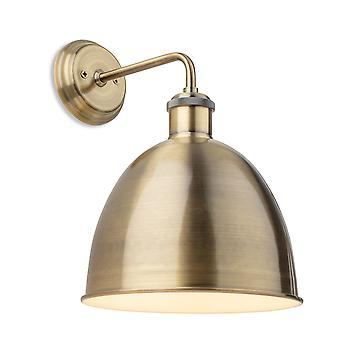 Firstlight Genua Industriële Dome Wandlamp Antiek Messing