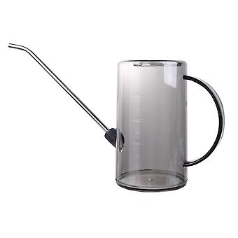 Portable Watering Can Long Mouth Pot Garden Potted Watering Kettle Container Home Large Capacity Kettle For Garden (black Transparent)