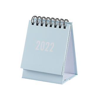 2022 Mini Coil Desk Calendar Portable Schedule Simple Desktop Ornament For Home Living Room Office 6