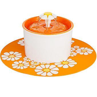 1.6l Fontána Tekoucí voda Cirkulace Pet Feeder Us Orange