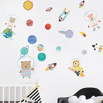 Cartoon Animal Wall Stickers Decals Bedroom Decor Wallpaper Mural