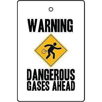 Warning - Dangerous Gases Ahead Car Air Freshener