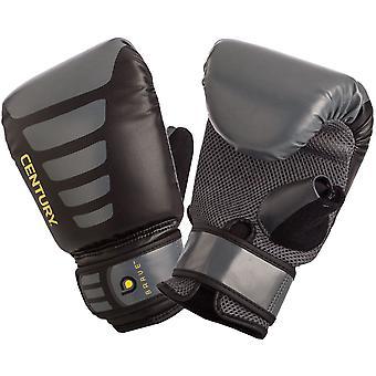 Talet modiga krok och ögla boxning överdimensionerade väska handskar - svart/grå