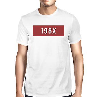 198 X Mens hvitt kort erme rundt halsen gaveidé For ham