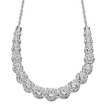 925 серебряные цирконий ожерелье модно