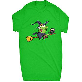 Witch and Cat on Broomstick For Men