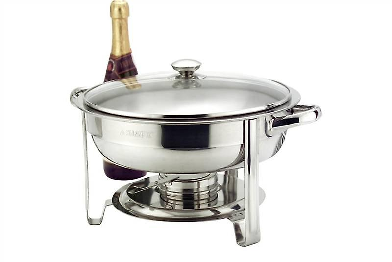 Stainless Steel Round Chafer with Lid
