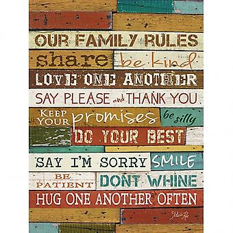 Family Rules Poster Print by Marla Rae (18 x 24)