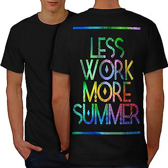 Summer Vacation Men BlackT-shirt Back | Wellcoda