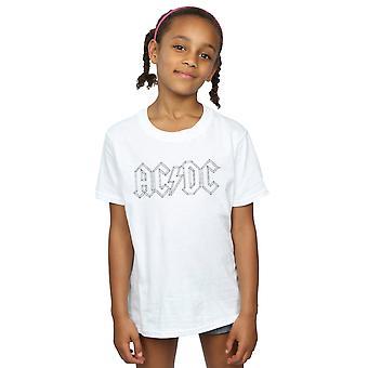 AC/DC piger sort kontur Logo T-Shirt