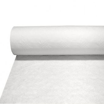 UDL White Damask Paper Banqueting Roll Table Cover
