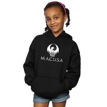 Fantastyczne zwierzęta dziewczyny MACUSA Logo Bluza z kapturem