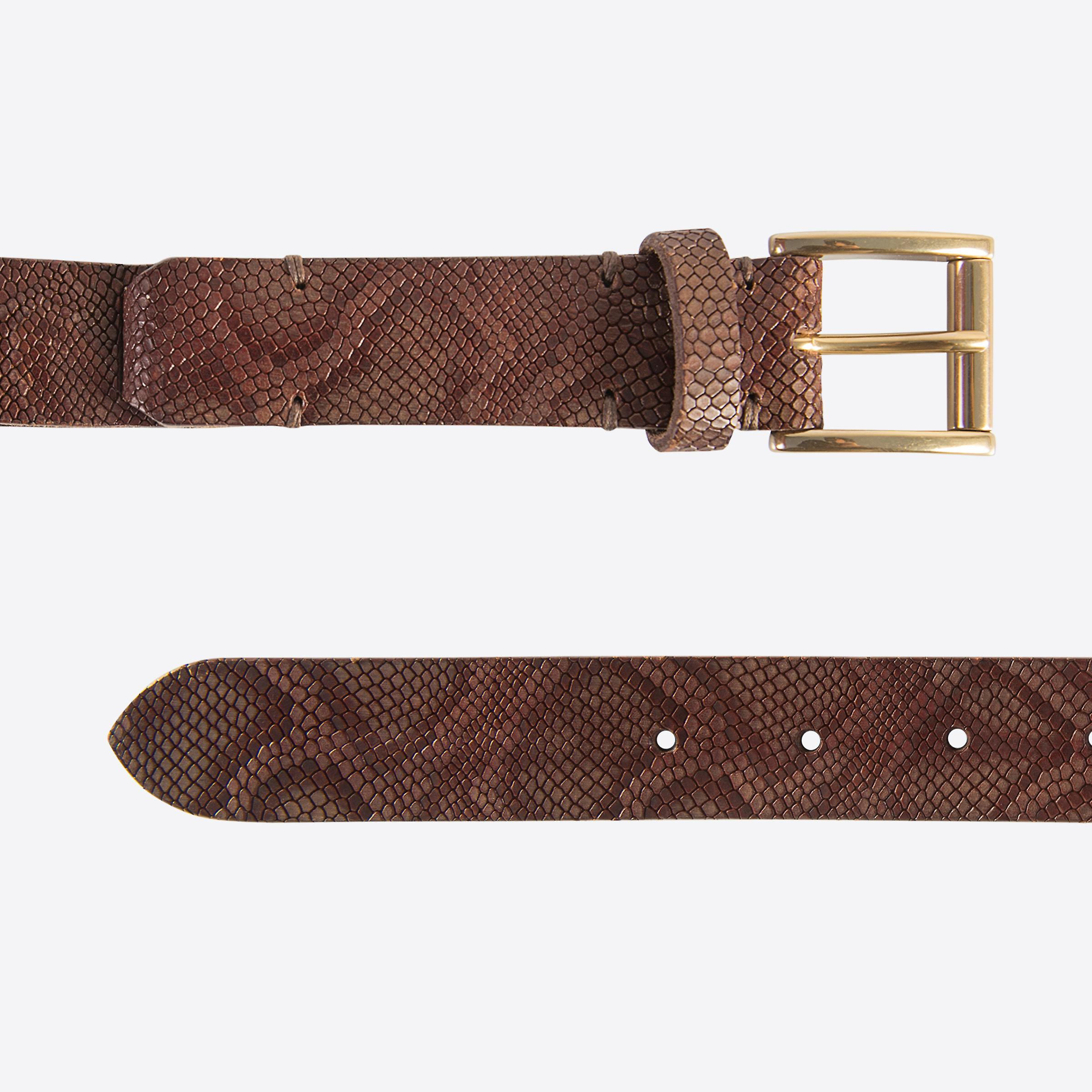 Fabio Giovanni Novali Gürtel - Python Print Belt - hochwertige italienische Gürtel