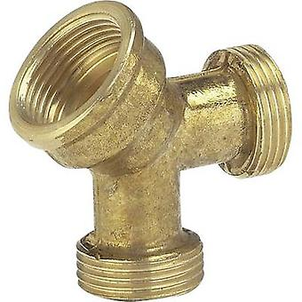 GARDENA 7155-20 Brass 2-way splitter 24.2 mm (3/4) IT, 26.44 mm (3/4) OT, 26.44 mm (3/4) OT